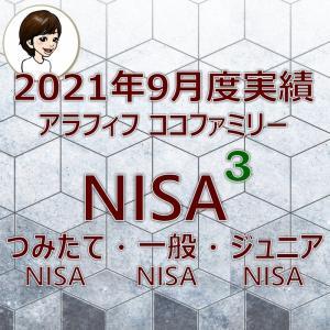 【NISA】楽天証券のNISA3つの口座2021年9月度実績