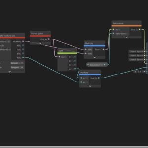 【Unity】ShaderGraphで彩度を変更する