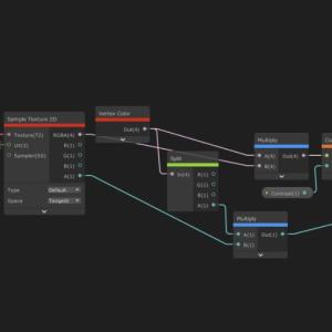 【Unity】ShaderGraphでコントラストを変更する