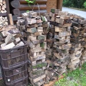 雨ざらしの薪