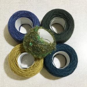 カラーミーショップで手織り糸のキットを準備中です・・・これはクローズドのショップです。