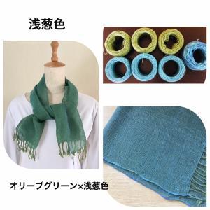 織色はたて糸とよこ糸の織り合わせが作ります。こんな糸を使っています。
