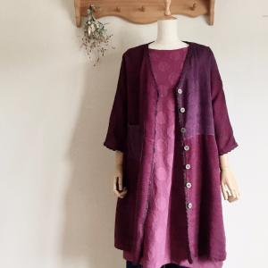 初秋の販売会だから やっとお披露目できる手織り服もあります。