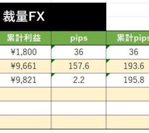 2020年1月3週目(12~18) 裁量FX実績