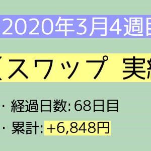 2020年3月4週目(22~28) スワップ実績