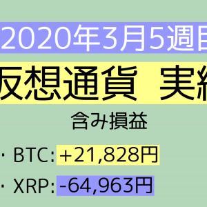 2020年3月5週目(29~31) 仮想通貨実績