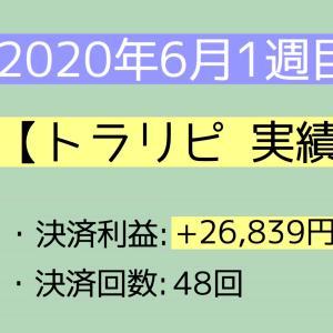 2020年6月1週目(1~6) 【トラリピ実績】