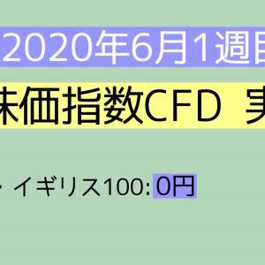 2020年6月1週目(1~6) 株価指数CFD実績