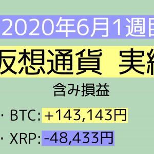 2020年6月1週目(1~6) 仮想通貨実績
