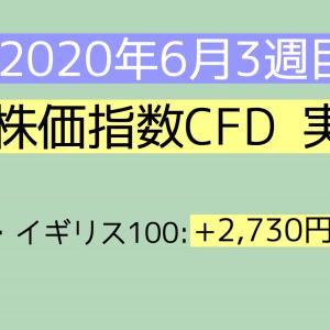 2020年6月3週目(14~20) 株価指数CFD実績
