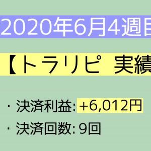 2020年6月4週目(21~27) トラリピ実績