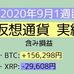 2020年9月1週目(1~5) 仮想通貨実績