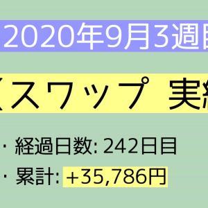 2020年9月3週目(13~19) スワップ実績