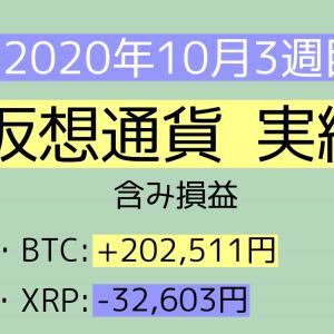 2020年10月3週目(11~17) 仮想通貨実績
