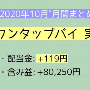 【月間報告】ワンタップバイ 10月運用実績【2020年】