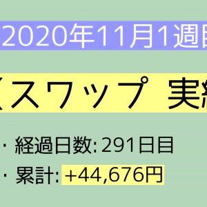 2020年11月1週目(1~7) スワップ実績
