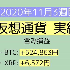 2020年11月3週目(15~21) 仮想通貨実績