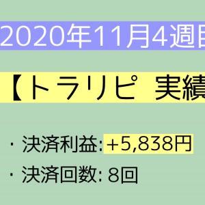 2020年11月4週目(22~28) トラリピ実績