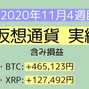 2020年11月4週目(22~28) 仮想通貨実績