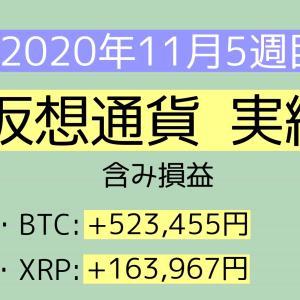 2020年11月5週目(29~30) 仮想通貨実績