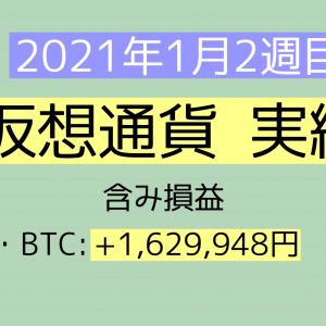 2021年1月2週目(10~16) 仮想通貨実績