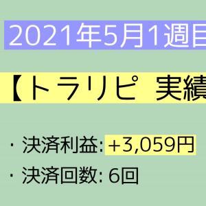 2021年5月1週目(1~8) トラリピ実績