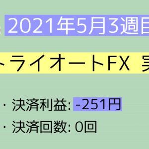 2021年5月3週目(16~22) トライオートFX実績
