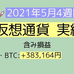 2021年5月4週目(23~29) 仮想通貨実績