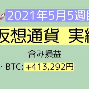 2021年5月5週目(30~31) 仮想通貨実績