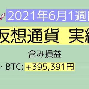 2021年6月1週目(1~5) 仮想通貨実績