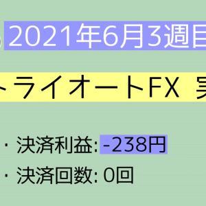 2021年6月3週目(13~19) トライオートFX実績