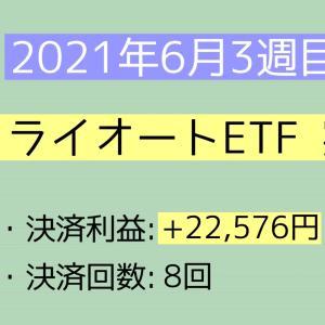 2021年6月3週目(13~19) トライオートETF実績