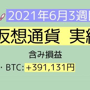 2021年6月3週目(13~19) 仮想通貨実績