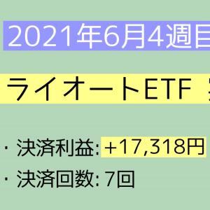 2021年6月4週目(20~26) トライオートETF実績