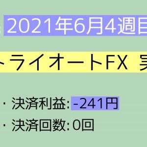 2021年6月4週目(20~26) トライオートFX実績