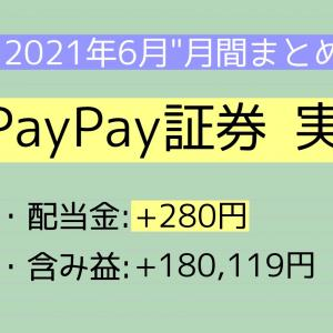 【月間報告】PayPay証券(旧ワンタップバイ) 6月運用実績【2021年】