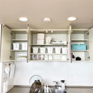 最近のキッチンの釣り戸棚