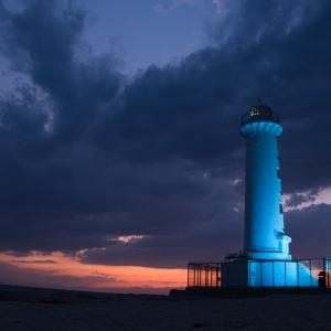 ブルーライトアップ 野間灯台