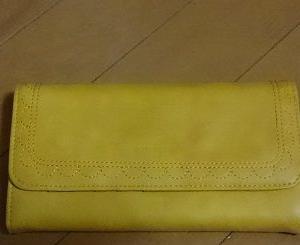 自分用長財布。思ったよりキレイな色でした