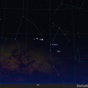 ★ 2020年1月21日(火)の明け方 月と火星の接近している光景 必見! ★