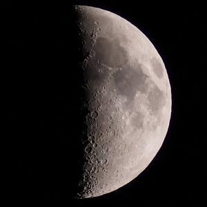 「月面X(エックス)」の撮影 2020年4月30日(機材:コ・ボーグ36ED、スリムフラットナー1.1×DG、E-PL5、ポラリエ)