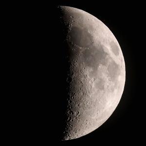 「月」の撮影 2020年5月29日(機材:ミニボーグ50FL、E-PL5、ポラリエ)