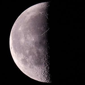 「月」の撮影 2020年5月15日(機材:ミニボーグ50FL、E-PL5、ポラリエ)