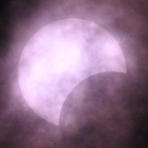 「部分日食」の撮影 その2 2020年6月21日(機材:コ・ボーグ36ED、スリムフラットナー1.1×DG、E-PL5、ポラリエ)