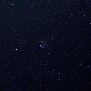 「散開星団NGC457」の撮影 2020年6月29日(機材:コ・ボーグ36ED、スリムフラットナー1.1×DG、E-PL5、ポラリエ)