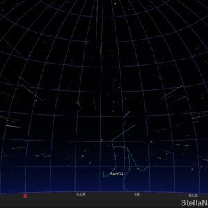 「ペルセウス座流星群が極大!」2020年8月12日 22時頃!