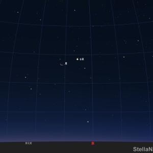 「金星と月が接近!」2020年8月16日(明け方)です!