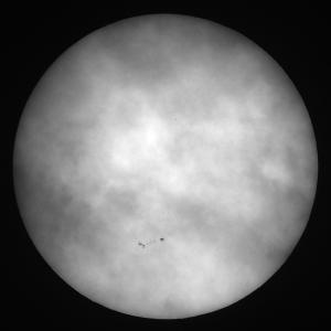 「太陽(白色光)」の撮影 2020年11月8日(機材:ミニボーグ50FL、E-PL5、ポラリエ)