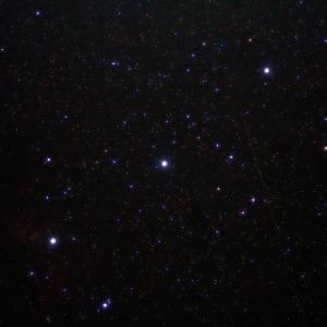 「オリオン座三ツ星」の撮影 2020年10月13日(機材:コ・ボーグ36ED、スリムフラットナー1.1×DG、E-PL5、ポラリエ)