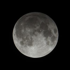 「半影月食の月」の撮影 2020年11月30日(機材:ミニボーグ50FL、E-PL5、ポラリエ)